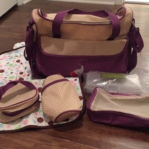 Ellie & Luke diaper bag with accessories new